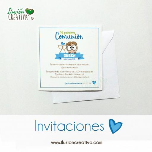 Invitaciones Primera Comunión - Niño - Modelo 01