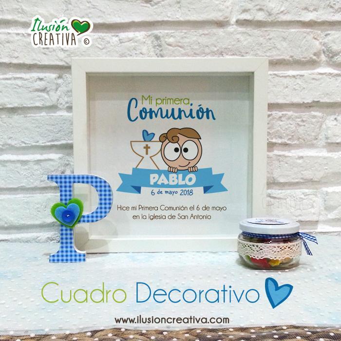 Cuadro Decorativo Primera Comunión - Niño