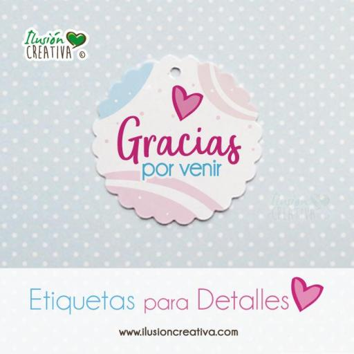 Etiquetas para detalles de Comunión - Niña - Gracias - Modelo 02