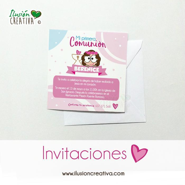 Invitaciones Primera Comunión - Niña - Modelo 02