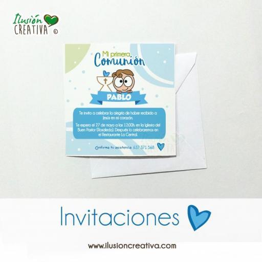Invitaciones Primera Comunión - Niño - Modelo 02