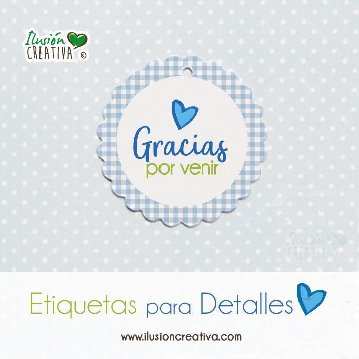 Etiquetas para detalles de Comunión - Niño - Gracias - Modelo 03