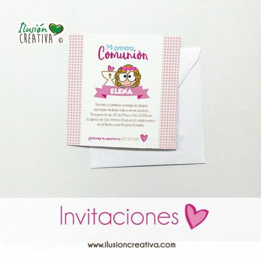Invitaciones Primera Comunión - Niña - Modelo 03