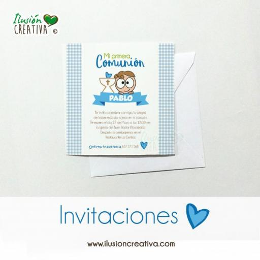 Invitaciones Primera Comunión - Niño - Modelo 03