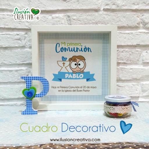Cuadro Decorativo Primera Comunión - Niño - Modelo 03