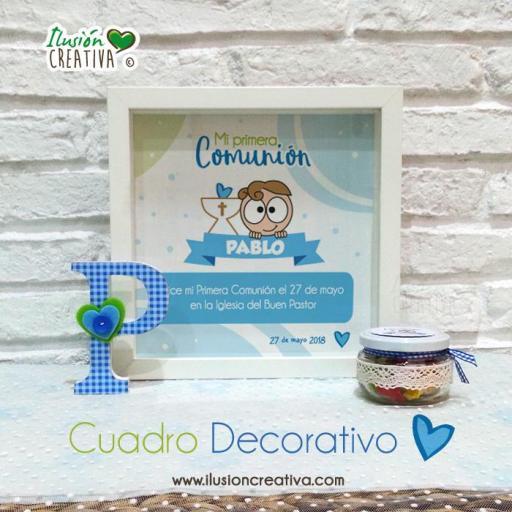 Cuadro Decorativo - Primera Comunión - Niño - Modelo 02