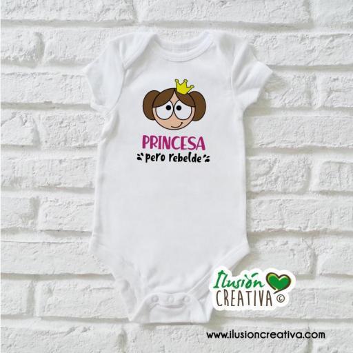 Body Niña Princesa pero rebelde