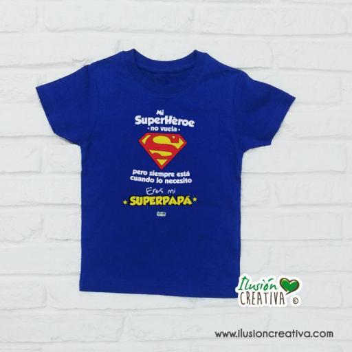 Camiseta Niñ@s - SuperHéroe, Super Papá!