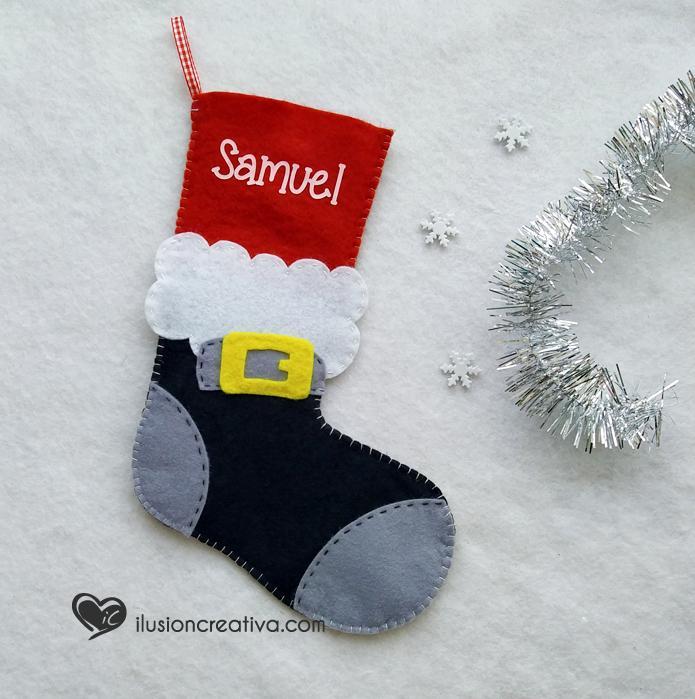 Calcetín decorativo Papá Noel