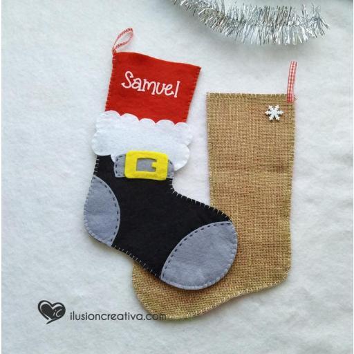 Calcetín decorativo Papá Noel [1]