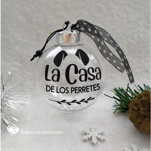 Bolas de Navidad TRANSPARENTES - La casa de los perretes