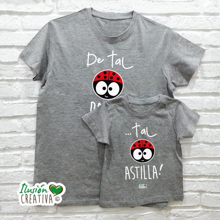 DUO de camisetas DE TAL PALO TAL ASTILLA CHIQUINETE