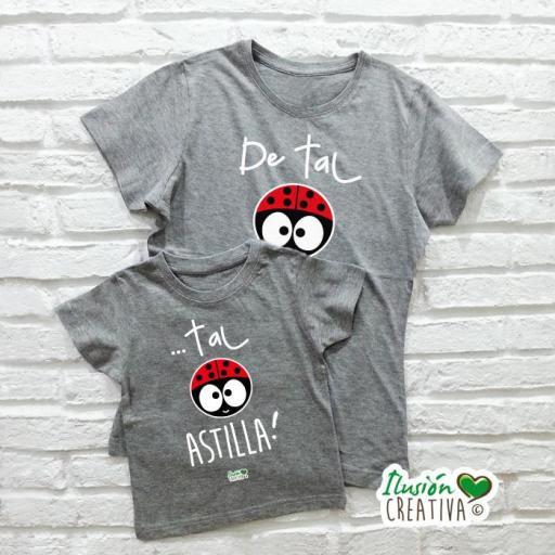 DUO de camisetas DE TAL PALO TAL ASTILLA CHIQUINETE [3]