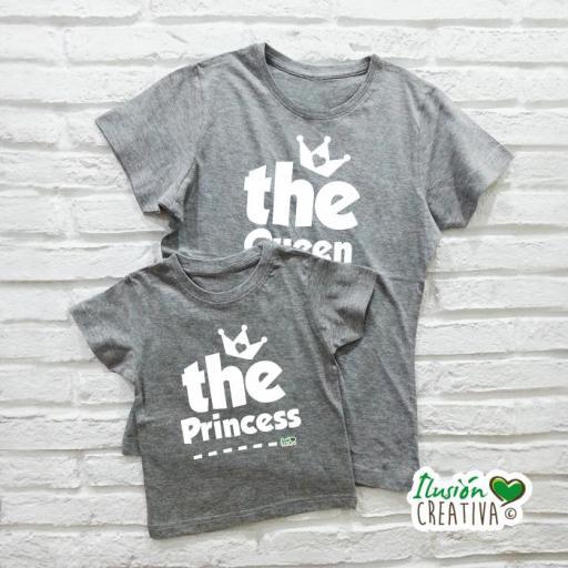 DUO de camisetas LA REINA + la Princesa (o el Príncipe!)