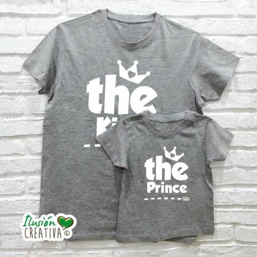 DUO de camisetas EL REY + El Principe (o la princesa!)