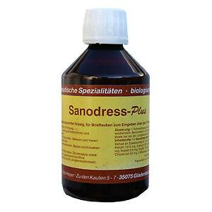 Hesanol Sanodress-Plus 250 ml (contra la coagulación y el depósito de grasa). Para palomas