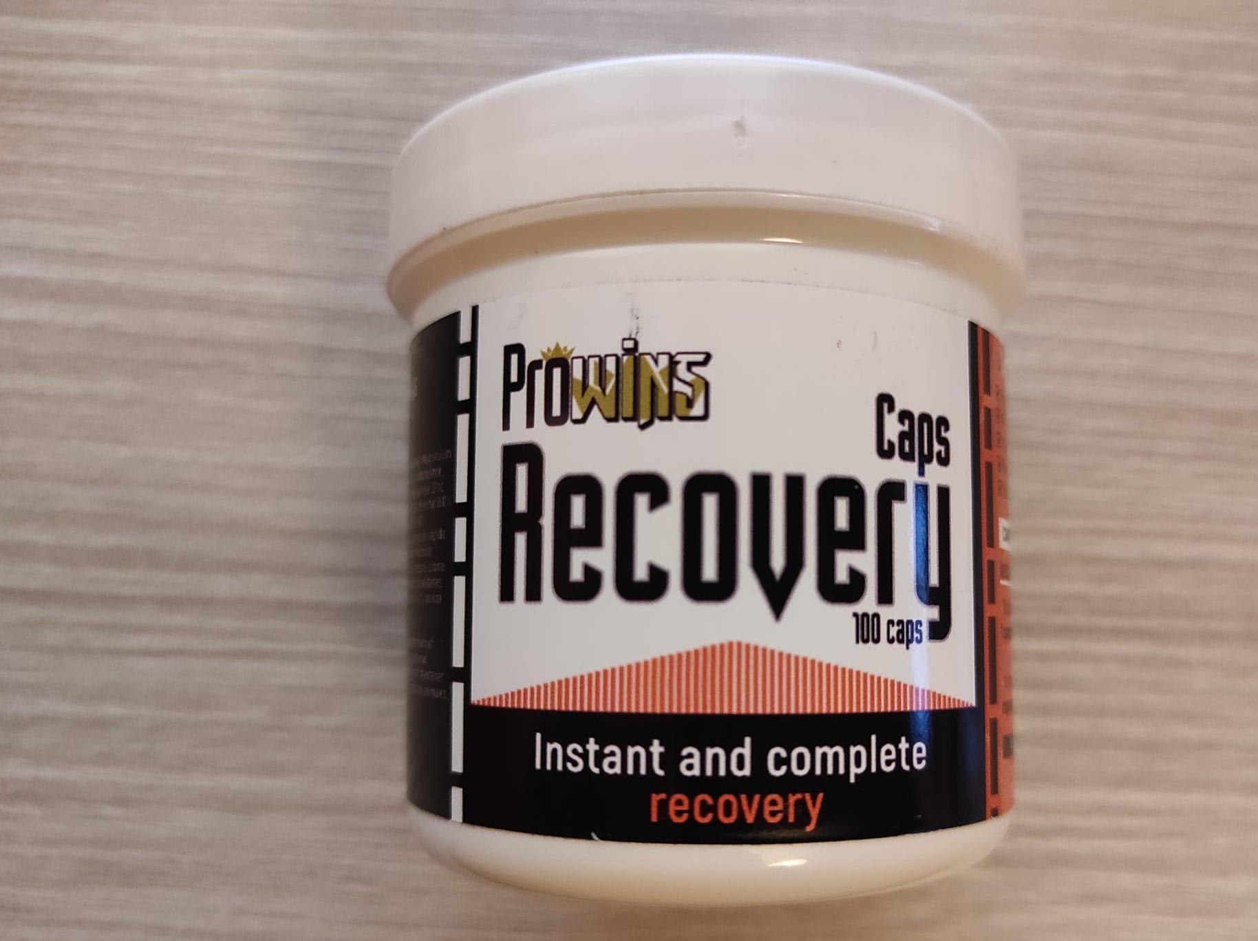 Prowins Recovery Caps, (recuperador y energético de efecto instantáneo). Para Palomas de Competición