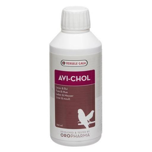 Versele-Laga Avi-Chol 250 ml (tónico para el hígado). Para Pájaros y Palomas