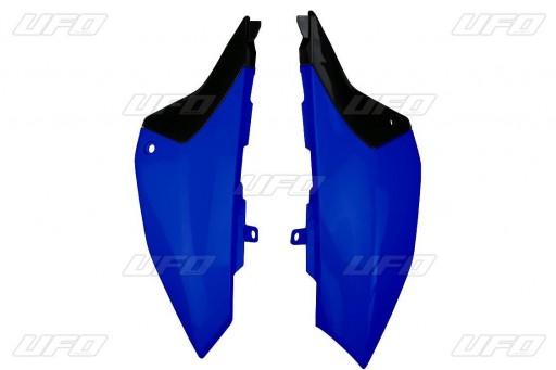Placas laterales traseras YZ65 Negra / Azul / Blanca