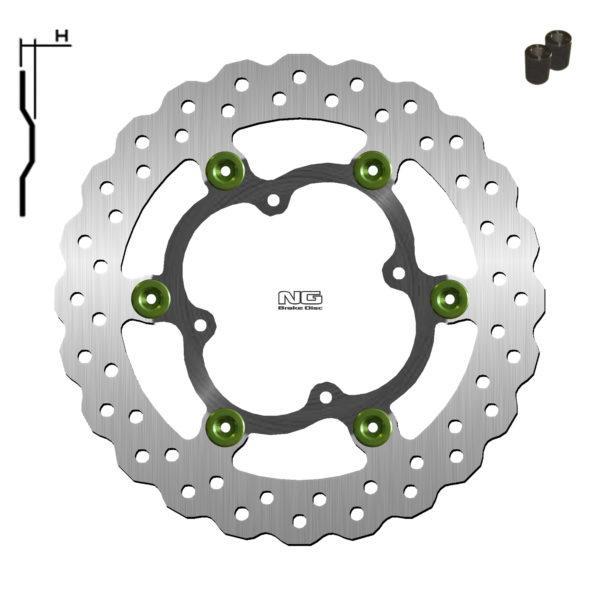 Disco de freno sobredimensionado con adaptador