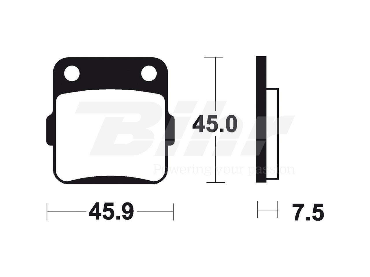 Pastillas delanteras de freno sintetizadas Brembo 07HO32SD YZ 65