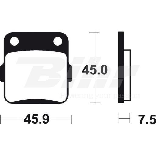 Pastillas delanteras de freno sintetizadas Brembo 07HO32SD YZ 65 [0]
