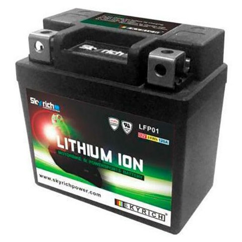 Bateria de litio Skyrich LFP01 (Impermeable + indicador de carga)