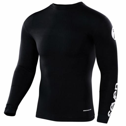 CAMISETA COMPRESSION SEVEN ZERO STAPLE (NEGRO)
