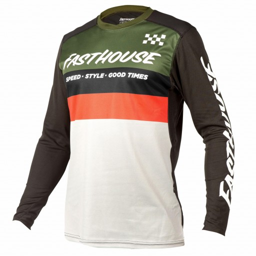 FASTHOUSE BIKE JERSEY ALLOY KILO OLIVE/WHITE