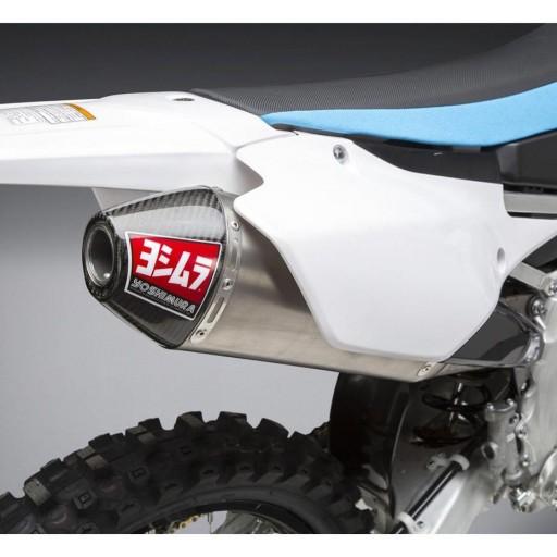 Linea completa escape Yoshimura Signature RS-4, titanio, tapa de fibra de carbono, Yamaha YZ 250FX