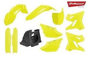 Kit plástica Polisport Yamaha restyling amarillo fluor 2002-2020 [0]