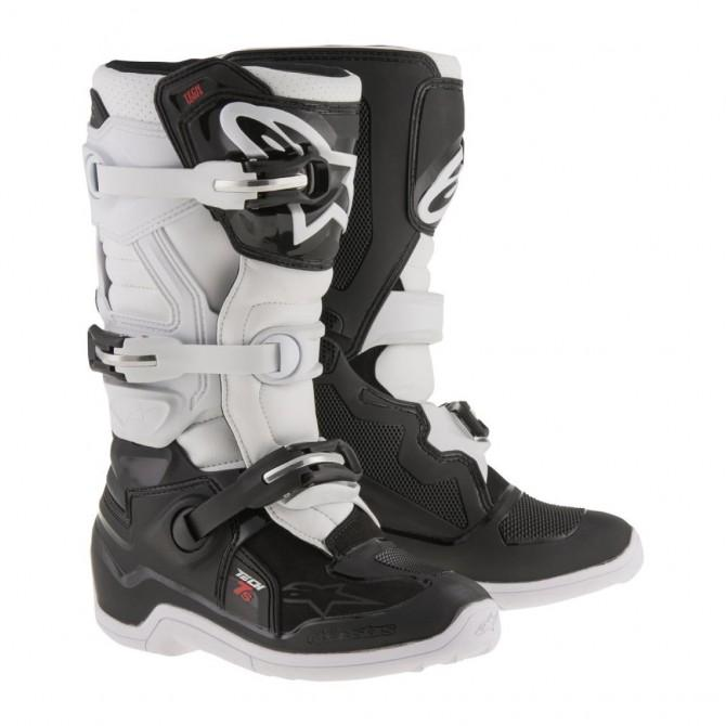 ALPINESTARS TECH 7 JUNIOR BLANCAS/NEGRAS