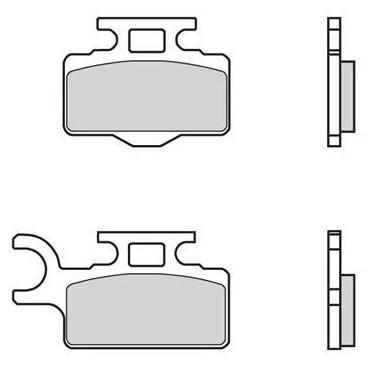 Pastillas de freno competición delanteras sinterizadas Brembo 07KA27SX KX 65 / 85