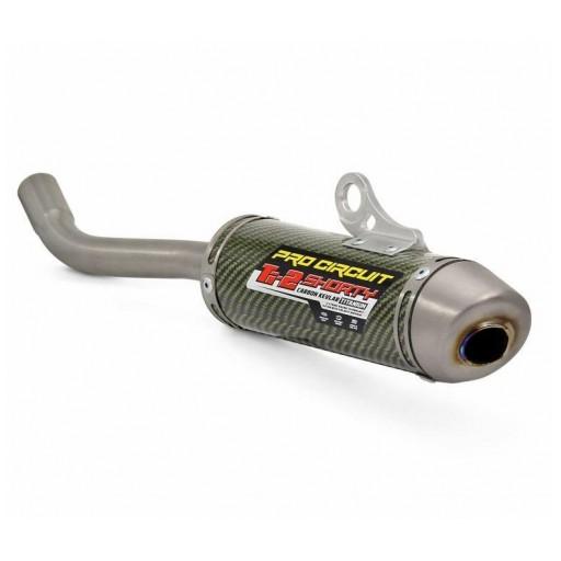Silencioso Pro Circuit Ti-2 Shorty Yamaha YZ85: carbono, tapa de titanio