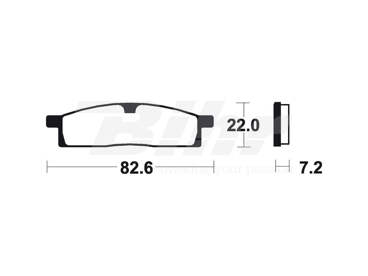 Pastillas traseras de freno sintetizadas Brembo 07YA16SD YZ 65