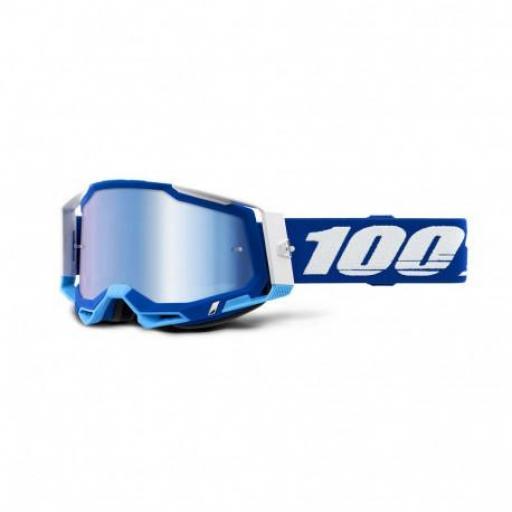 GAFAS 100% RACECRAFT 2 AZUL/AZUL ESPEJO