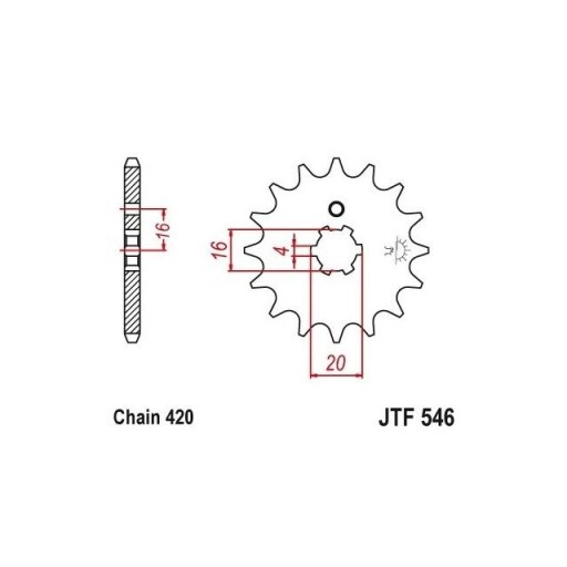 Piñon JT 546 de acero con 13 dientes