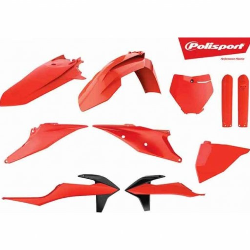 Kit de plástica POLISPORT Naranja Neon 19-21