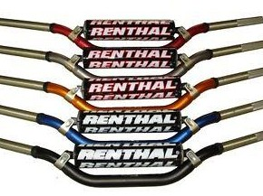 Manillar Renthal Twinwall Carmichael alto con protector negro 997-01-BK
