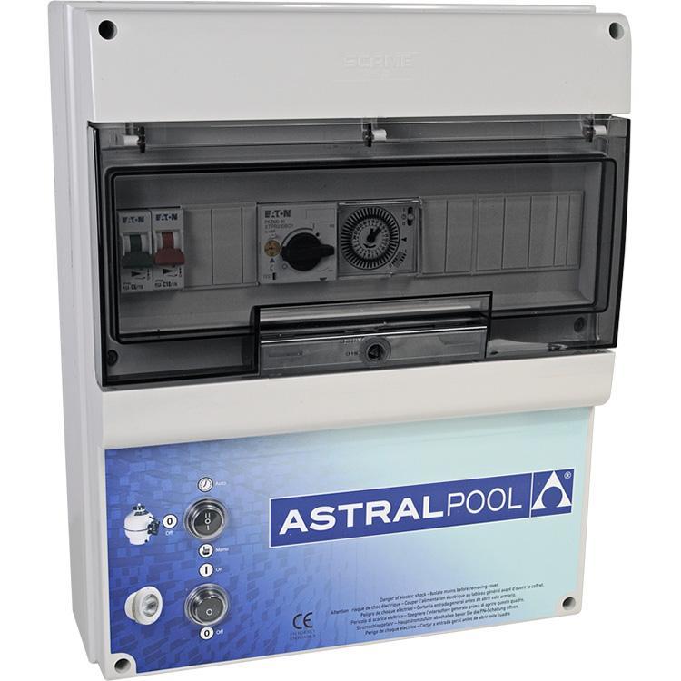 Armario maniobra 1 bomba y control iluminación transf. 300W AstralPool