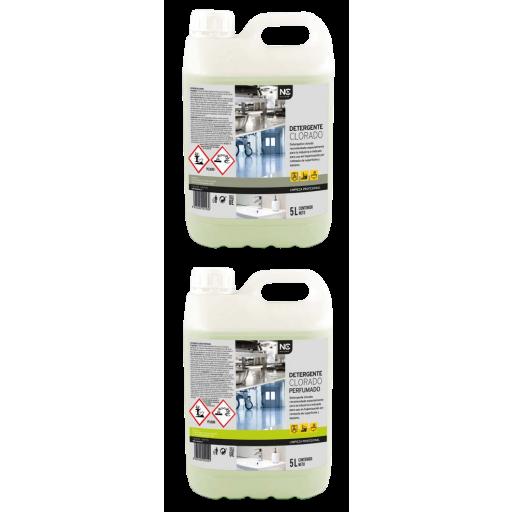 Detergente clorado y clorado perfumado 5 litros