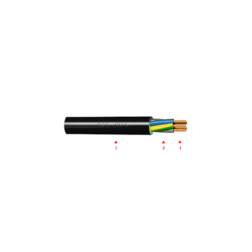 100MTS MANG.EL.RVK 0,6-1KV 2x1,5mm2