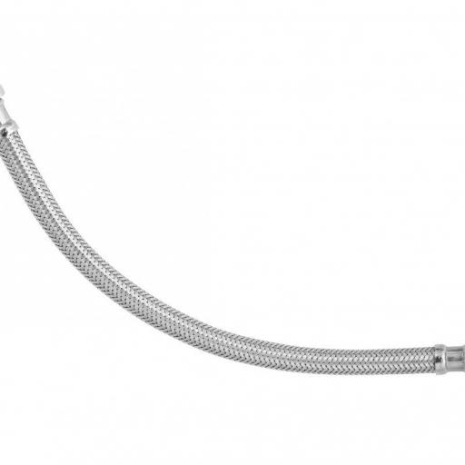LATIGUILLO FLEXIBLE 3/8M-3/8H D.INT.8MM.LONG.15CM.MALLA INOX