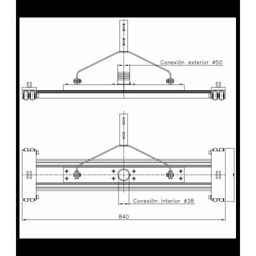 """LIMPIAFONDOS ARRASTRE CABLE 2"""" 80cM. 01357 [1]"""
