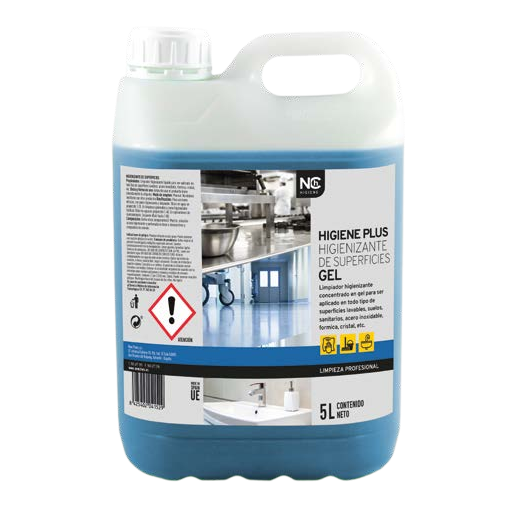 Higien Plus - Higienizante de superficies gel - 5 litros