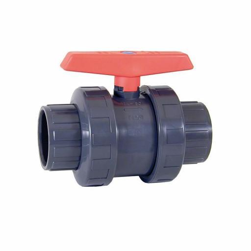 Válvula de bola PVC PN10 Cepex encolar D50