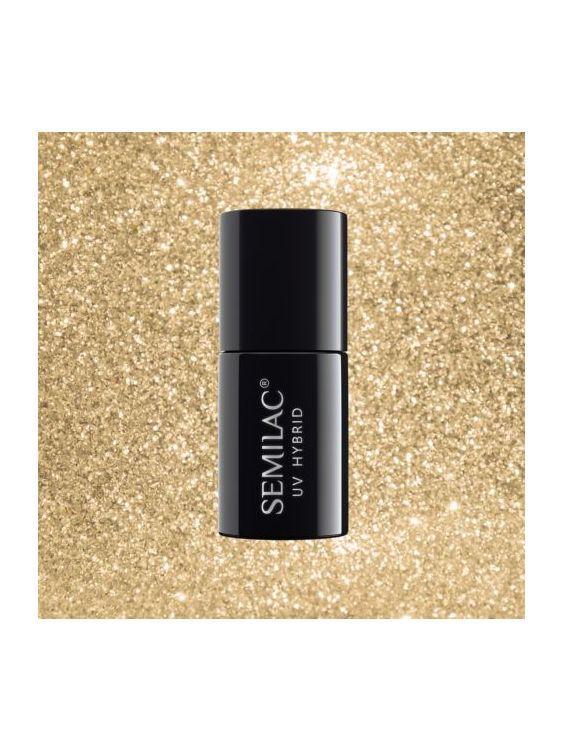 037 Esmalte semipermanente Semilac Gold Disco 7ml