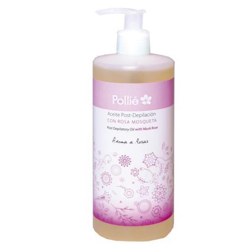 Aceite post depilatorio con rosa mosqueta POLLIE 500 ML