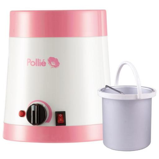 Fusor de cera Pollié 800 ml con termostato y cazoleta.