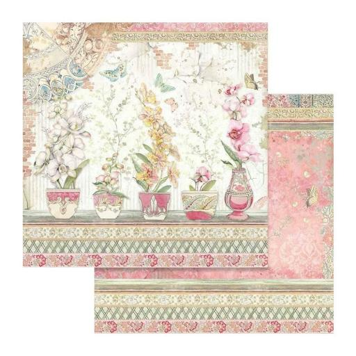 SET DE PAPELES ORCHIDS AND CATS STAMPERIA [3]
